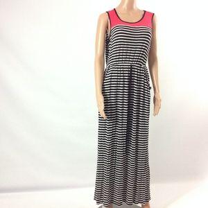 Expresso Women's Striped Tank Dress Maxi Size XL
